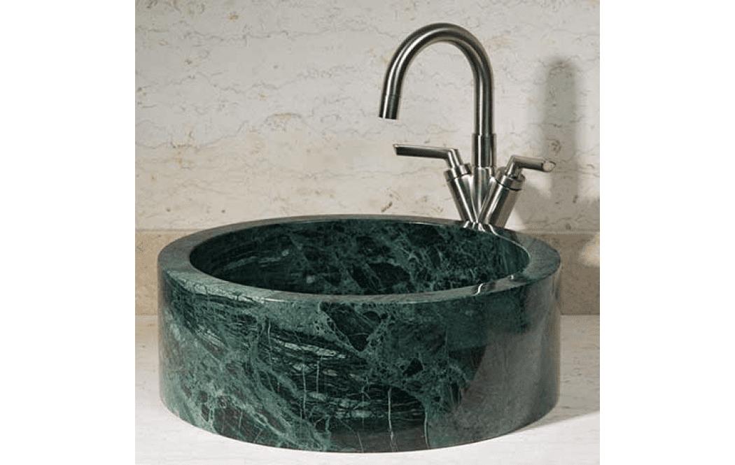 раковина столешница для ванной - Зеленый мрамор Spider green (Спайдер грин)