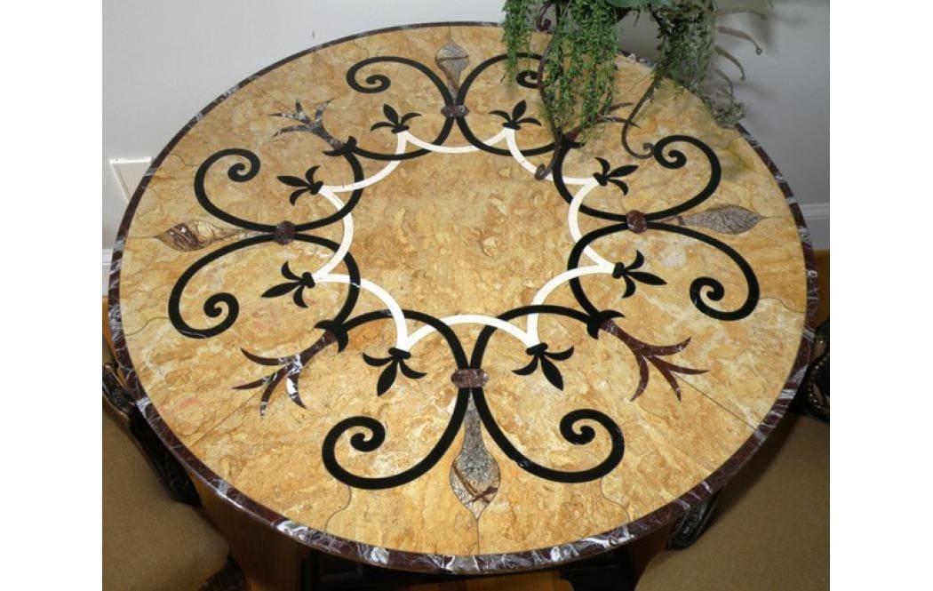 стол из мрамора - Желтый мрамор GIALLO REALE (ДЖ� АЛЛО РЕАЛЕ)