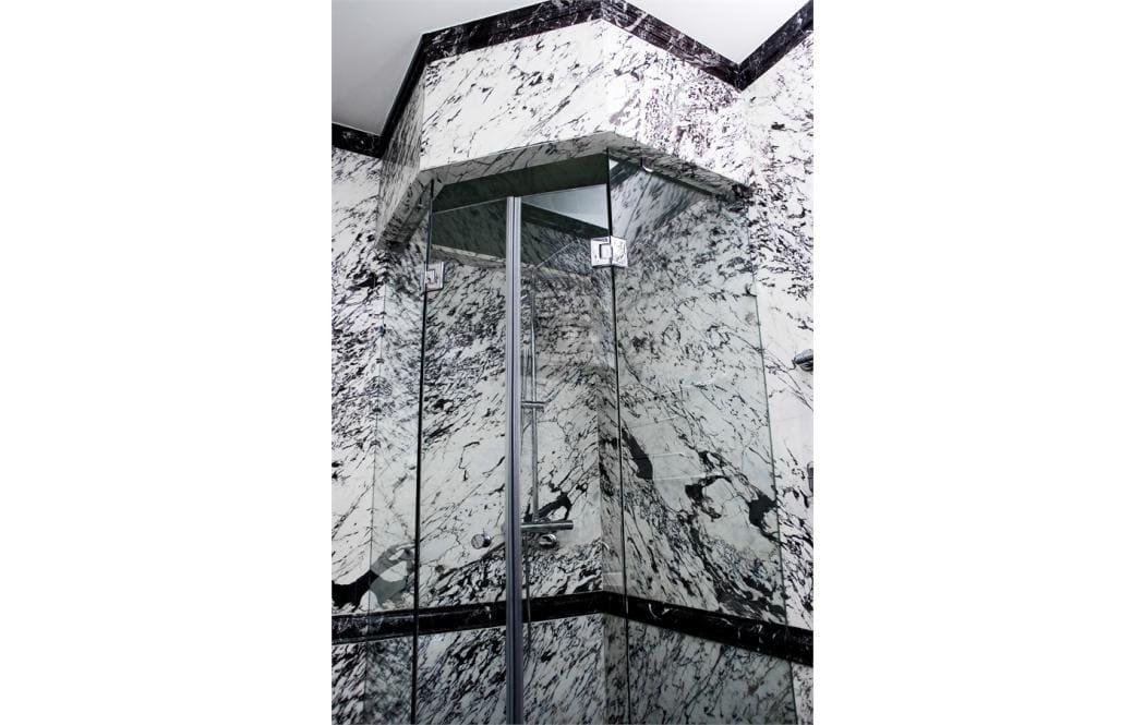 плитка натуральный камень - мраморные панели - Белый и Серый мрамор Breccia Violla (Брехчия Виола)