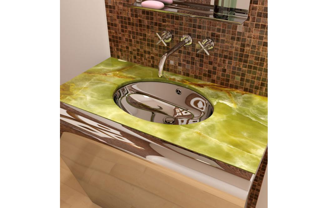 столешница для ванной комнаты - оникс Onyx - Green (Грин - Оникс)