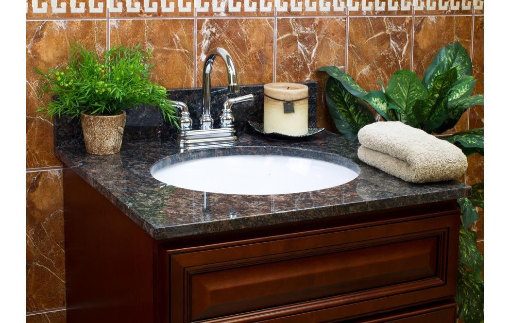 столешницы для ванной комнаты - гранит Tan-brown (Тан - браун)