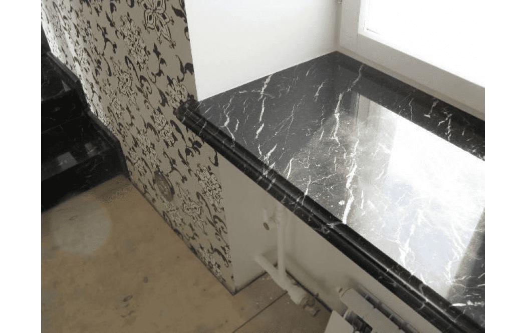 мраморные подоконники цены - Черный мрамор BLACK PERL (БЛЕК ПЕРЛ)